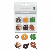 Pretty Eyelets 3mm, Autumn assortment, 76 pcs