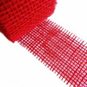 Jute ribbon 40mm/1m, red