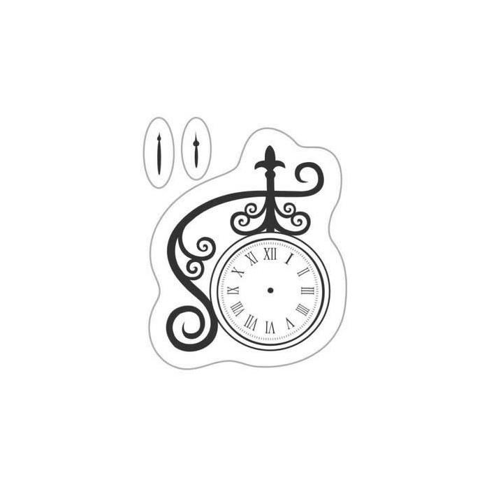 Clear stamp - Clock