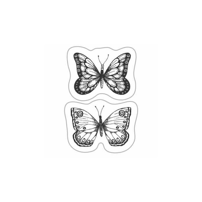 Clear stamp - Butterflies