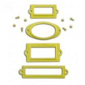 Porte-étiquettes en métal vert anis