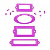 Porte-étiquettes en métal violet