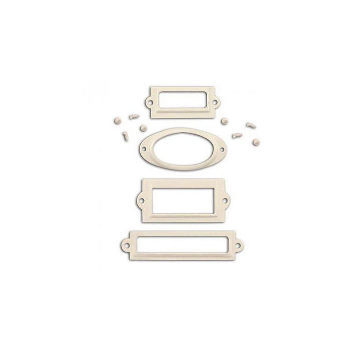 Metal frames, white