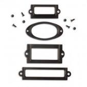 Porte-étiquettes en métal noir
