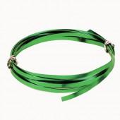 Fil aluminium plat 1.2x4mm, 2m, vert