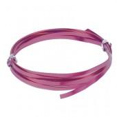 Flat aluminium wire, 1x5mm, 2m, lilac