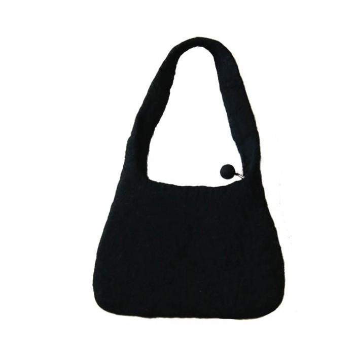 Felt Handbag, black