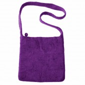 Felt shoulderbag, purple