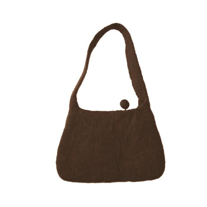 Felt Handbag, brown