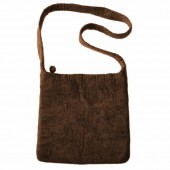 Felt shoulderbag, brown