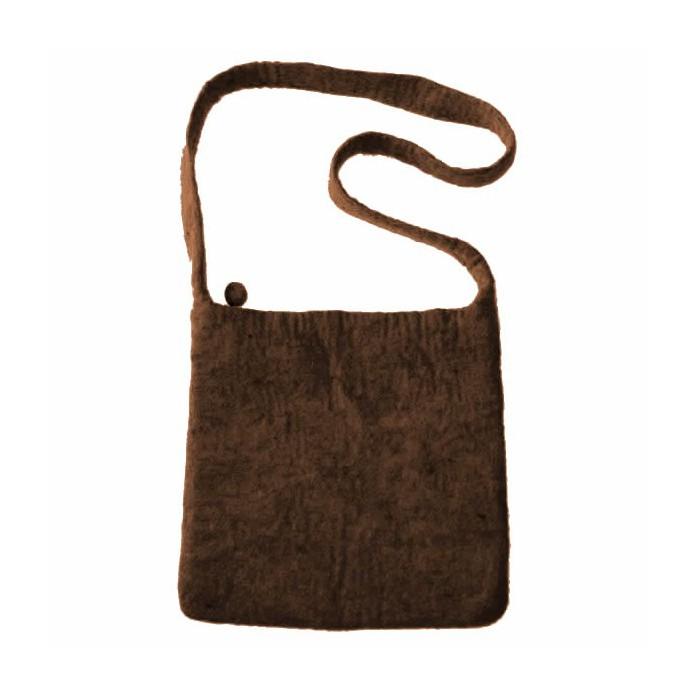 Felt shoulderbag, brown