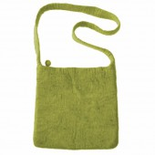 Felt shoulderbag, olive