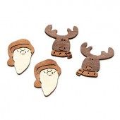 Wooden items, reindeer / Xmas