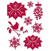 Making Memories - Mistletoe Poinsettia stickers