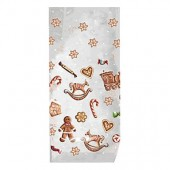 "Square bag clear ""gingerbread"", 10 pcs"
