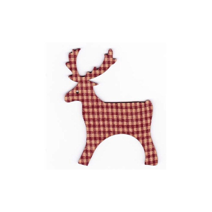 Reindeers dark red, 8cm, 4 pcs