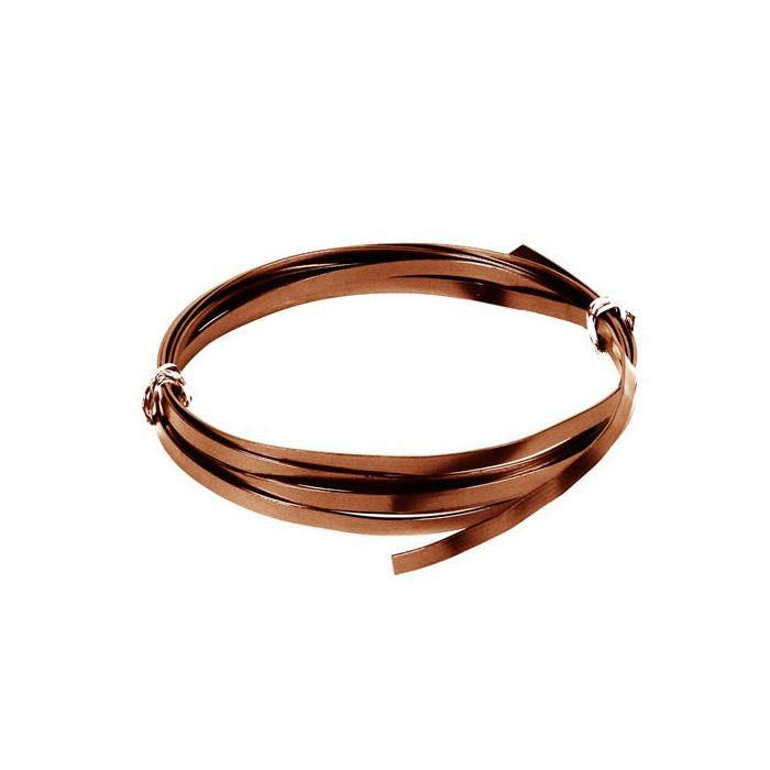 Flat aluminium wire, 1.2x4mm, 2m, brown