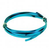 Fil aluminium plat 1.2x4mm, 2m, turquoise