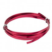 Fil aluminium plat 1.2x4mm, 2m, rouge