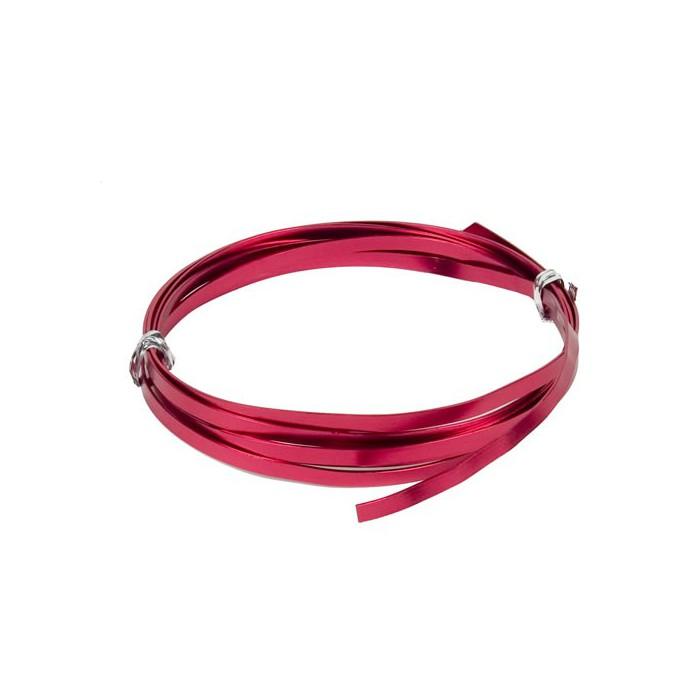 Flat aluminium wire, 1.2x4mm, 2m, red