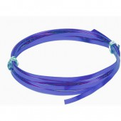 Flat aluminium wire, 1.2x4mm, 2m, blue