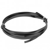 Flat aluminium wire, 1.2x4mm, 2m, black