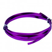 Flat aluminium wire, 1.2x4mm, 2m, purple