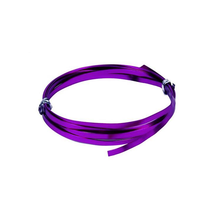 Flat aluminium wire, 1.2x4mm, 2m, purple