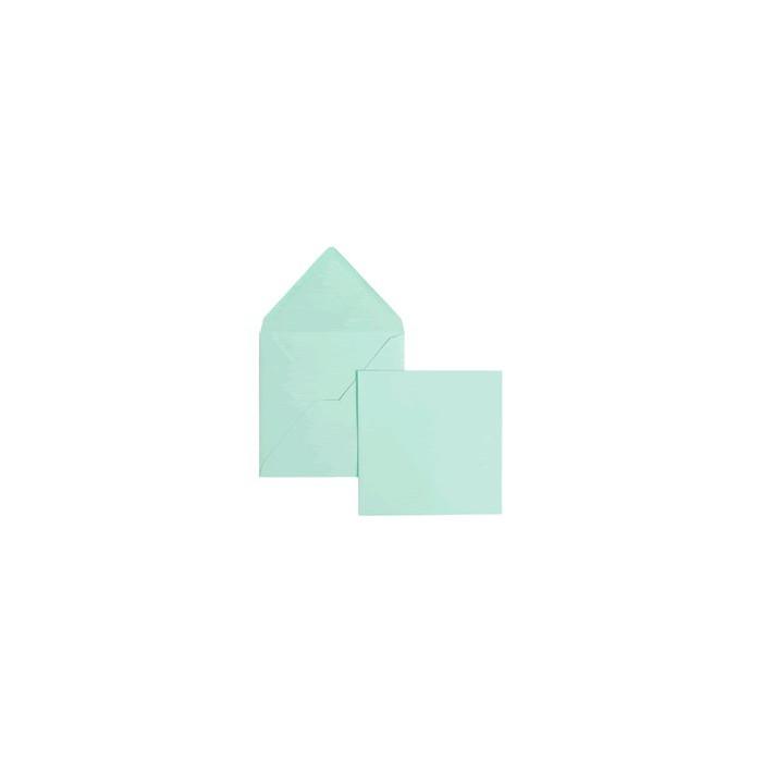 Set 5 cards and envelopes, light blue
