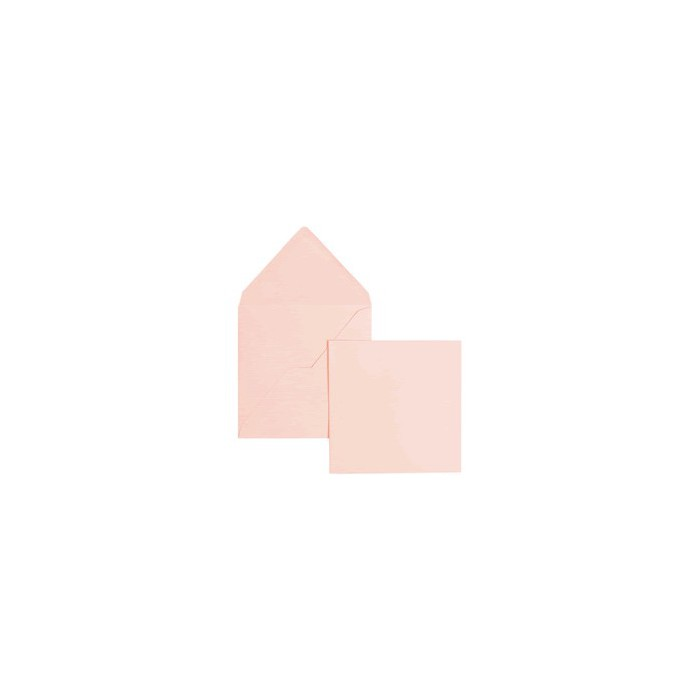 Set 5 cards and envelopes, rose