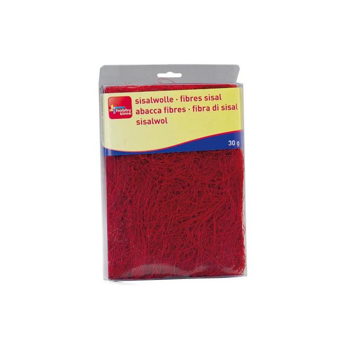 Abaca fibres, red