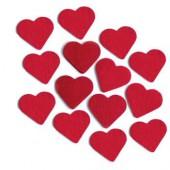 Coeurs en feutre rouge, 5cm, 12 pcs