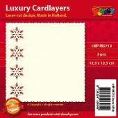 Fonds décoratifs pour cartes, flocons, 3 pcs