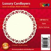 Fonds décoratifs pour cartes, houx, 3 pcs