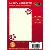 Fonds décoratifs pour cartes, fleur, 3 pcs