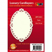 Luxury Cardlayers, Oval, 3 pcs