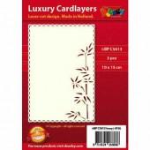 Fonds décoratifs pour cartes, bambou, 3 pcs