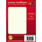 Fonds décoratifs pour cartes, rectangle, 3 pcs