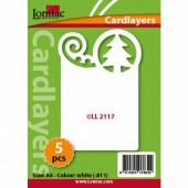 Fonds décoratifs pour cartes, sapin, 5 pcs