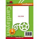 Fonds décoratifs pour cartes, étoile, 5 pcs