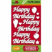 Lomiac - Pre-Cut Paper Birthday