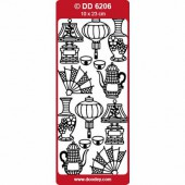 Peel-off stickers Oriental Designs silver
