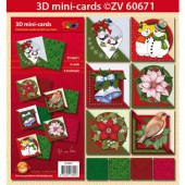 Doodley - Kit mini cartes 3D Noël