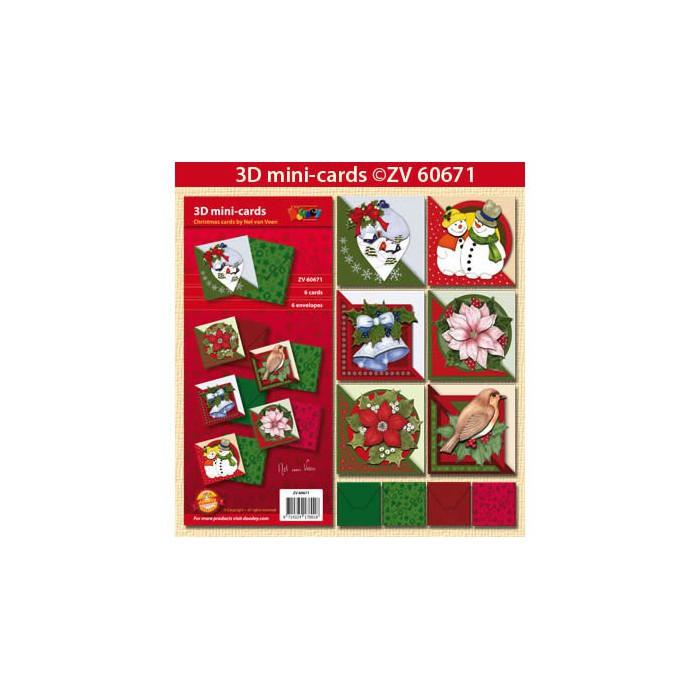 doodley kit 3d mini karten weihnachten. Black Bedroom Furniture Sets. Home Design Ideas
