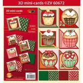 Doodley - Mini 3D Cards Kit Cupcakes