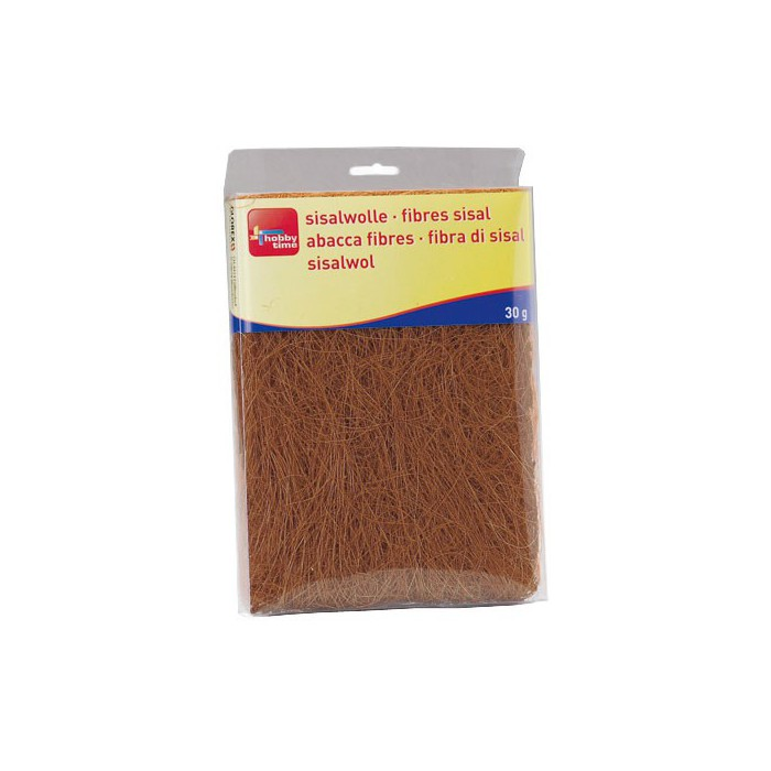 Abaca fibres, dark brown