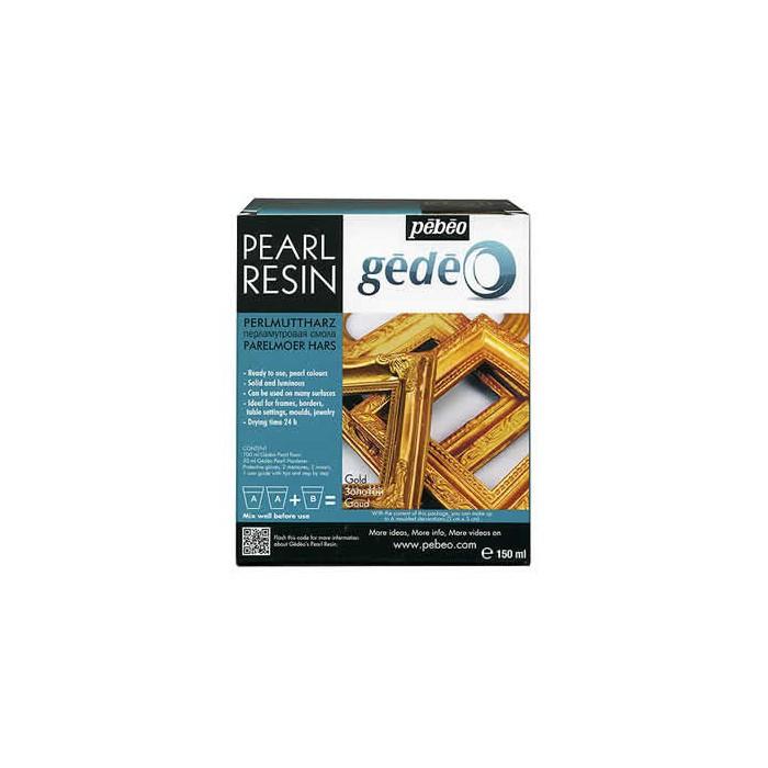 Pearl resin Gédéo, gold