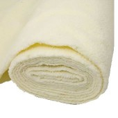 Tissu peluche imitation mouton, 150x50cm, écru