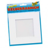 White cardboard photo frame 166x166mm