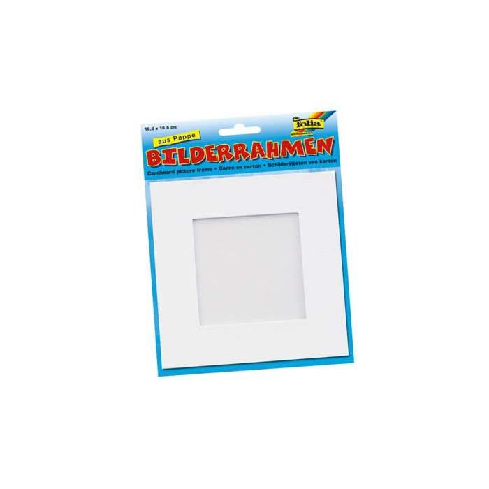 White cardboard photo frame 166x166mm